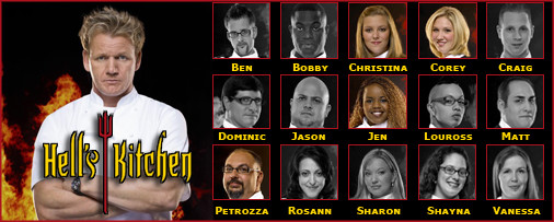 Hell's Kitchen Contestants (2008 - Fox Broadcasting Network)