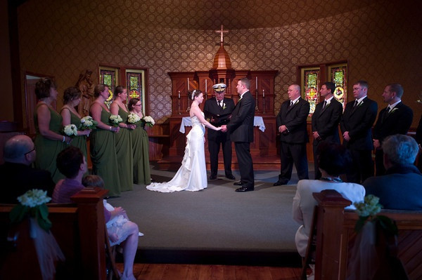 Wedding at St. William's historic church at Long Point (Photo courtesy of Raquette Lake Navigation)