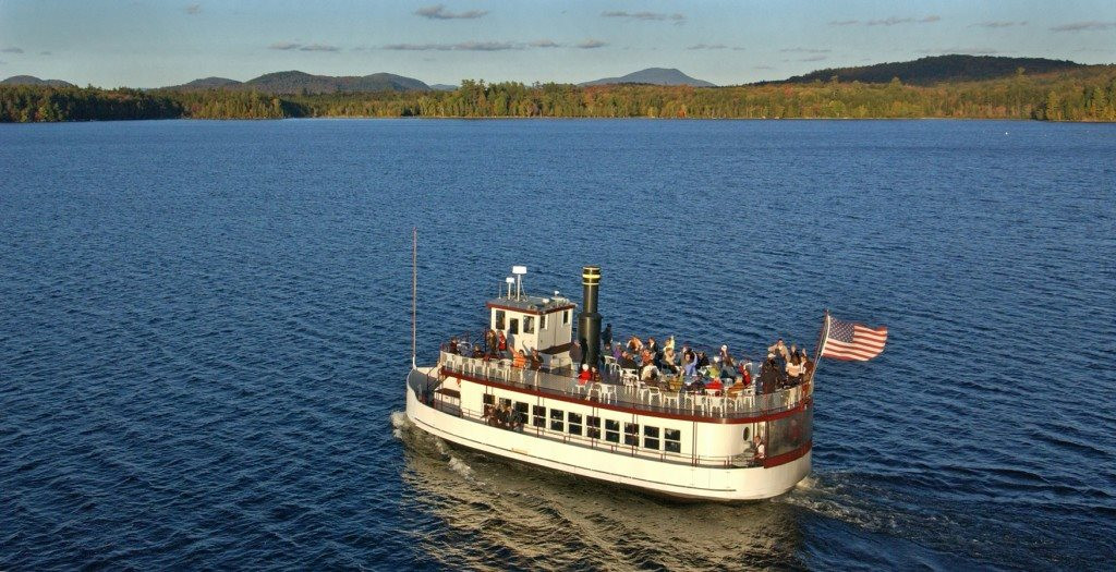 Tie the Knot aboard the W.W. Durant (Raquette Lake Navigation Photo)