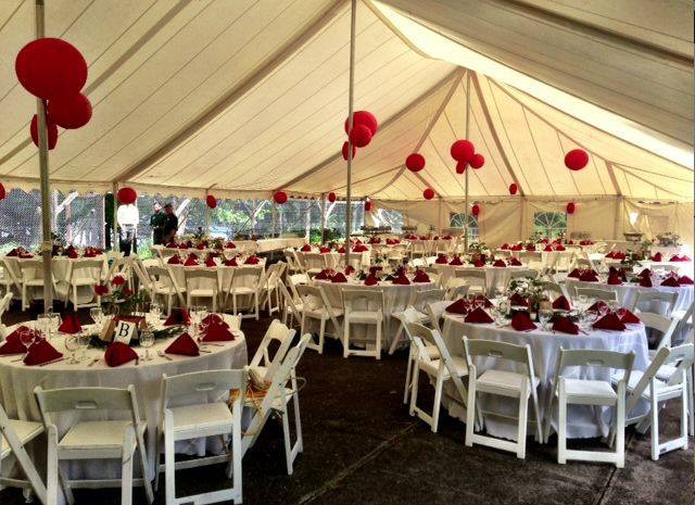 Wedding Tent at Great Camp Sagamore (Photo courtesy of Great Camp Sagamore)