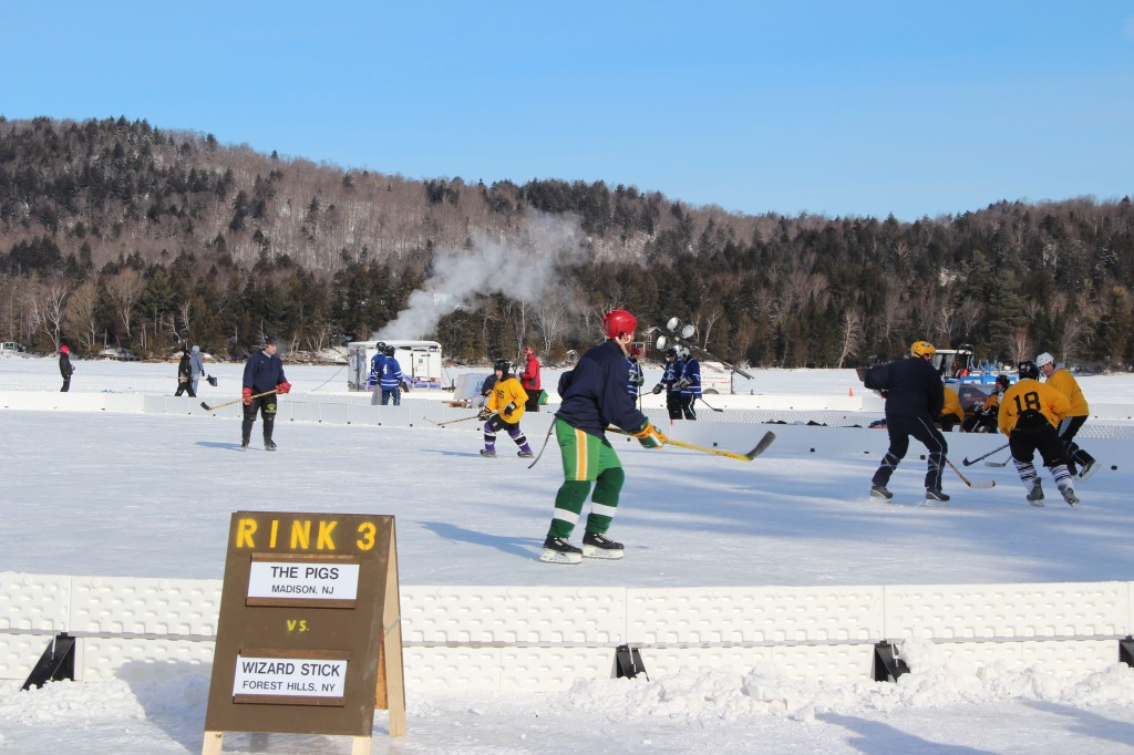Adirondack Ice Bowl Pond Hockey