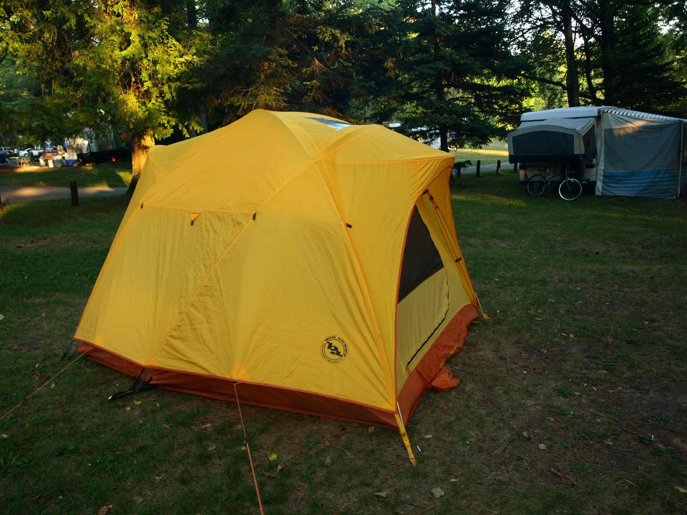 An example of a three-season, four-person tent.