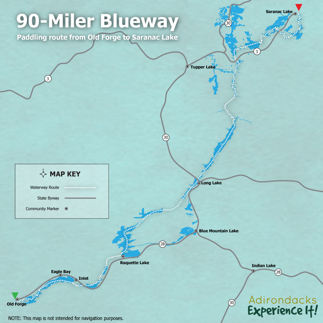 90 Miler Blueway Map - ROOST